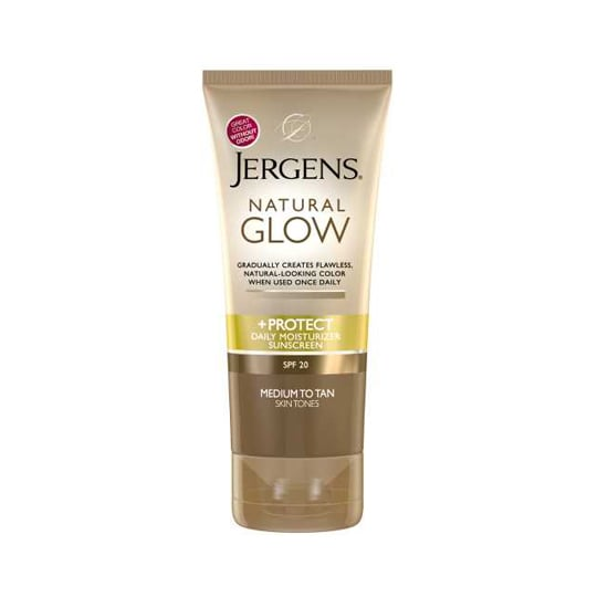 Think of Jergens Natural Glow & Protect ($8) as a self-tanning treatment for beginners. The color builds gradually with regular application, there's no blatant stench, and you're even protected with SPF 20.