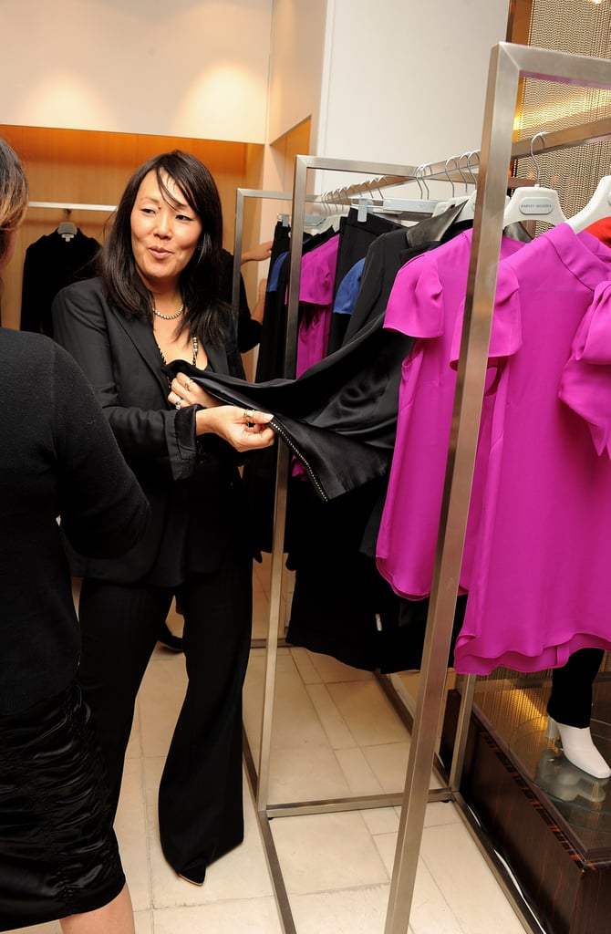 Jeanne Yang showed off the Holmes & Yang collection.