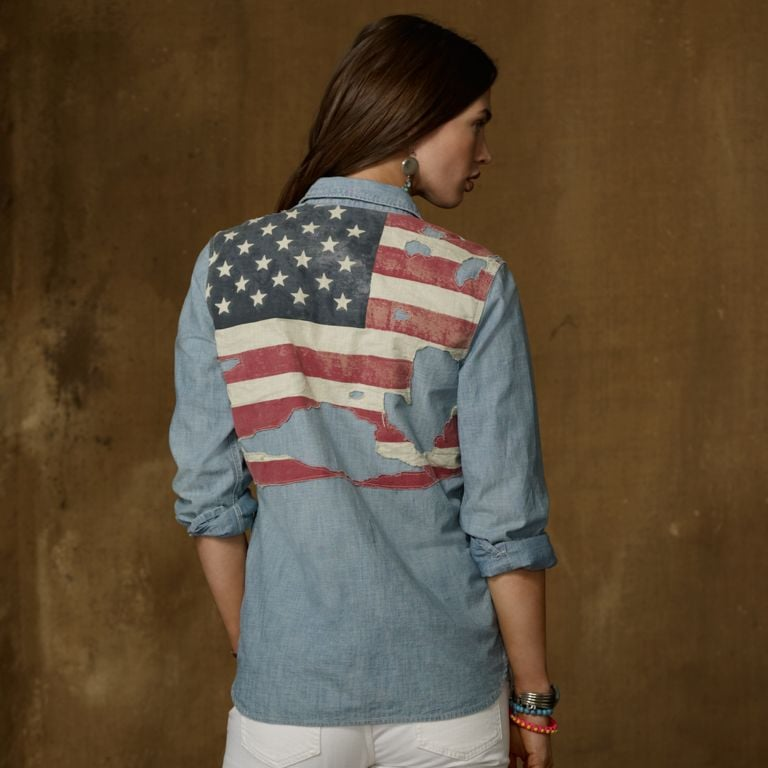 Wear Denim & Supply's distressed flag shirt ($80) with white jeans to a family party. Getting rowdy with friends? Knot it at your waist or wear it open over a bikini.