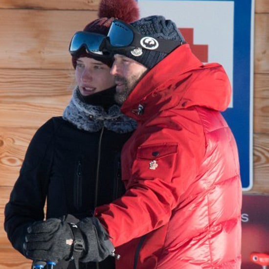 Jason Statham and Rosie Huntington-Whiteley Kiss Skiing