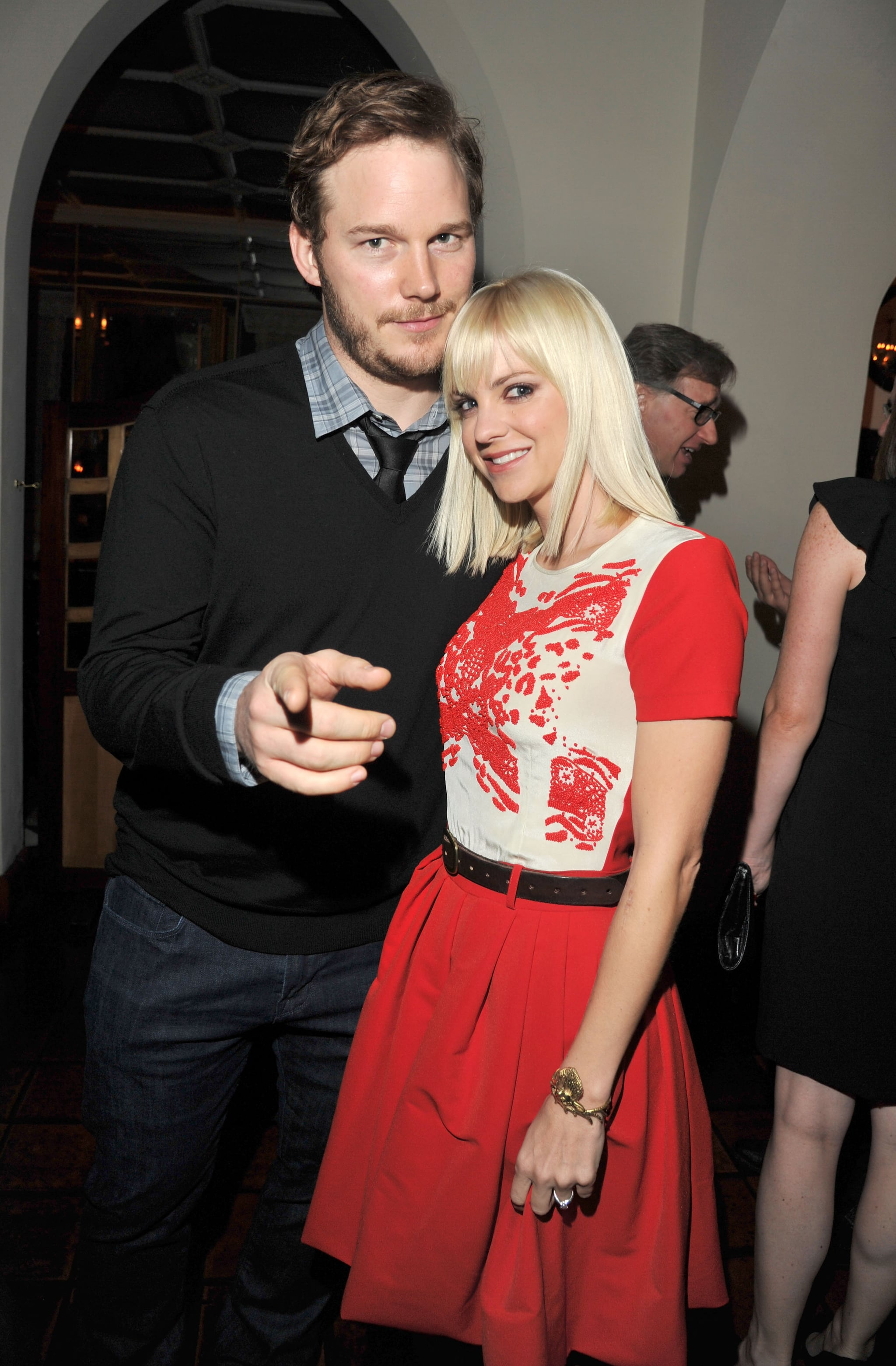 Anna leaned in to pose with Chris at the 2011 GQ Men of the Year party in LA.