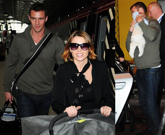 Pictures of Dannii Minogue, Kris Smith and Baby Ethan In Manchester, England