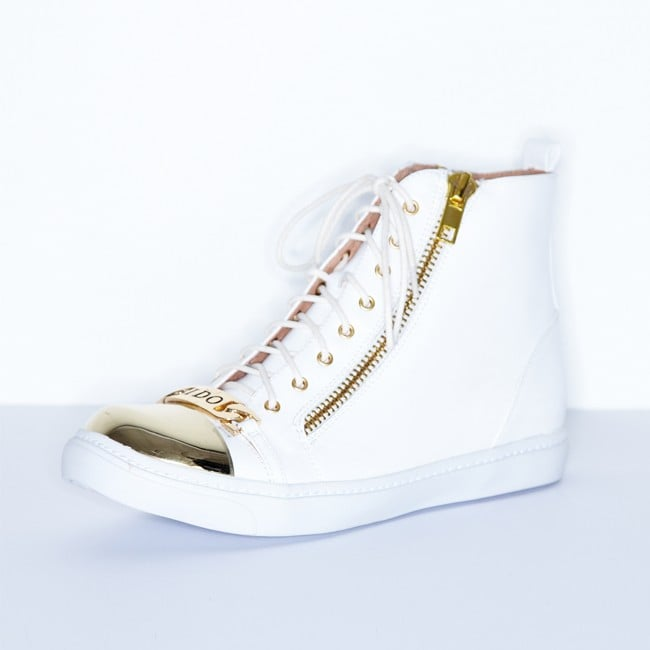 Cold Feet by Jeffrey Campbell Adams I Do White High-Top Sneakers ($180)
