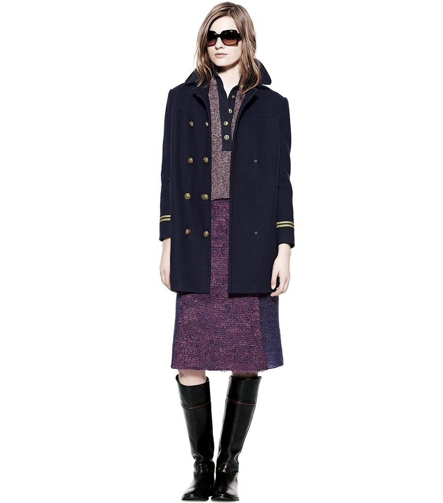 And our coat closet can always expand to fit in a preppy military-inspired topper ($595).