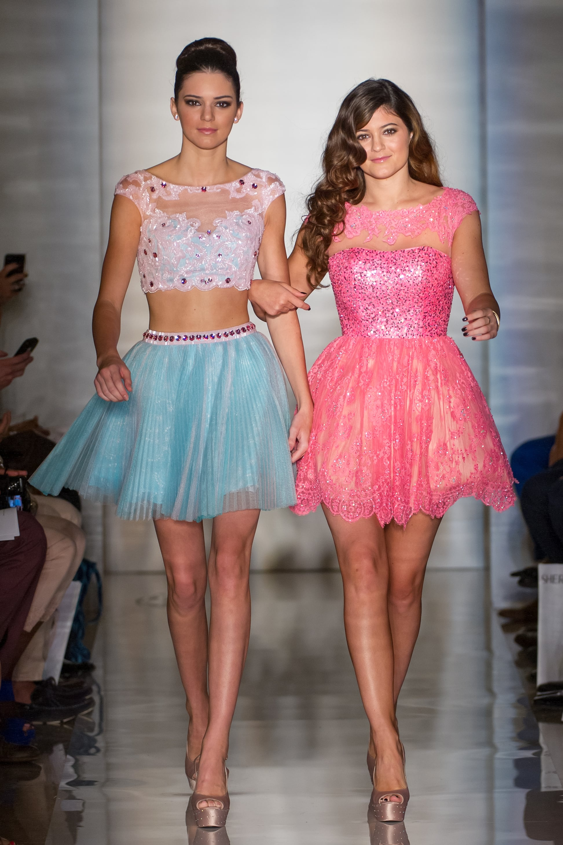 In 2012, Kylie joined Kendall on the runway for the Sherri Hill show at New York Fashion Week.