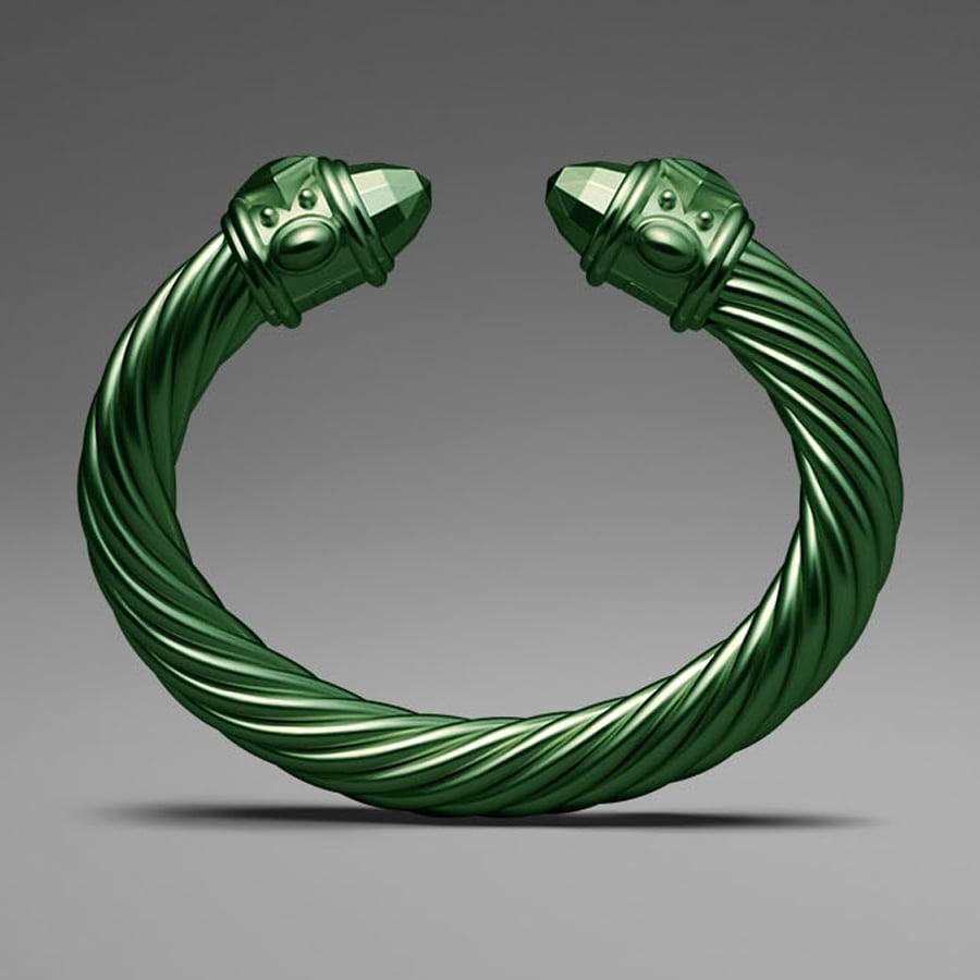 David Yurman Green Aluminum Cable Bracelet