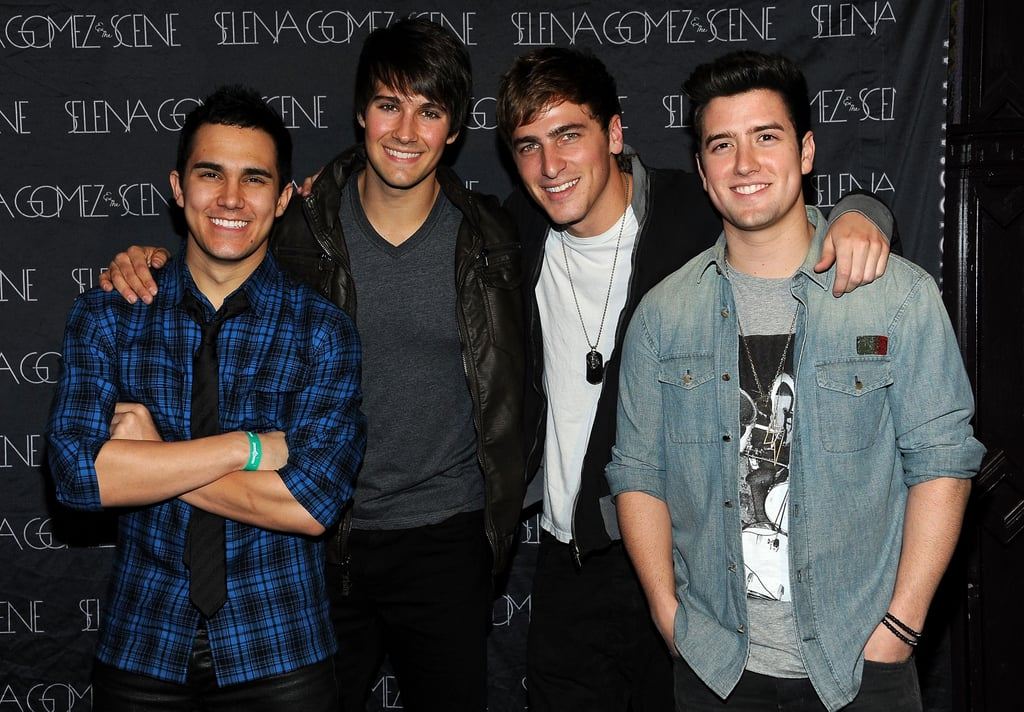 The boys of Big Time Rush stuck close prior to the show.