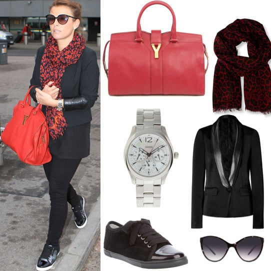 Coleen Rooney Style at Heathrow Airport