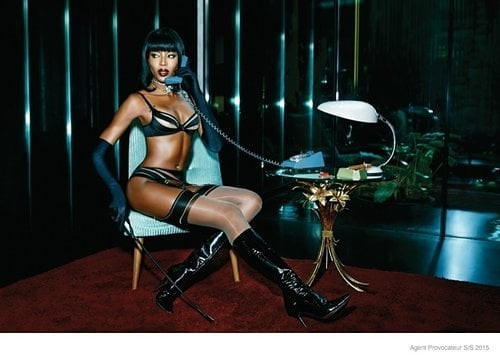 Naomi Campbell for Agent Provocateur; Kendall Jenner in Vogue
