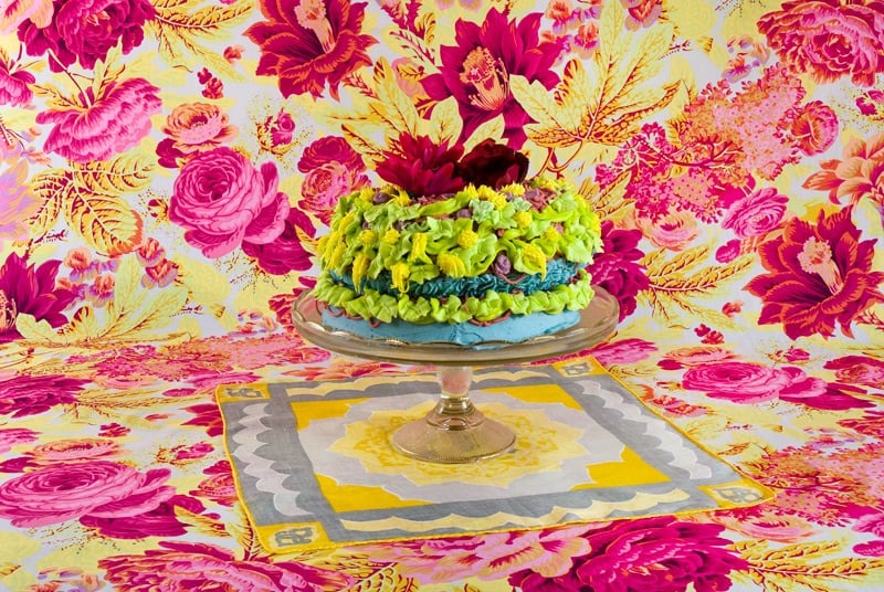 Amy Stevens's Confections (adorned) #14 photograph ($20 and up) showcases an elaborately concocted homemade cake with an exuberantly imperfect design— we can't all be Martha Stewart.