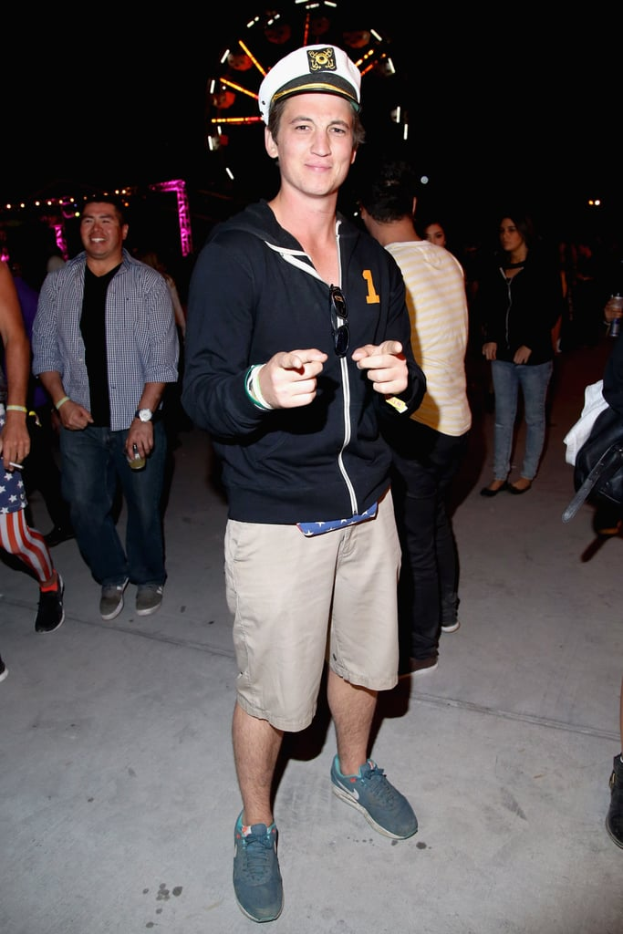 Miles Teller was the captain of the Neon Carnival.