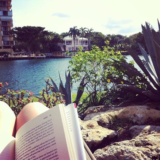 Mandicoyne soaked up the sun while she read.