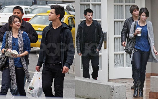 Photos of Selena Gomez and New Moon's Taylor Lautner in Vancouver