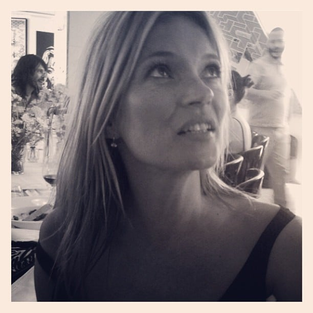 Net-a-Porter's Lucy Yeomans had a divine lunch companion in Kate Moss while dining in London. Source:  Instagram user lucy_yeomans
