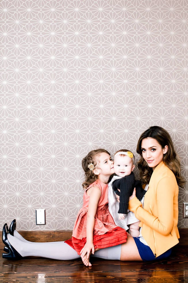Jessica Alba posed with Honor Marie, 3½, and Haven Garner, 9 months, to celebrate being named one of the most creative people in business by Fast Company. Photo courtesy of: Fast Company
