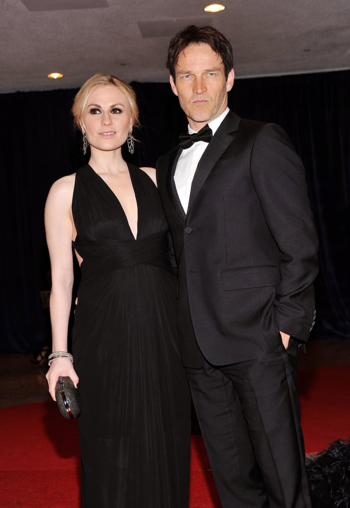 Anna Paquin posed with her husband and True Blood costar Stephen Moyer.