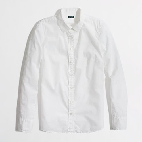 J.Crew Factory White Button-Down Shirt