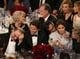 Bradley Cooper laughed alongside a bundled-up Jennifer Lawrence during the show.