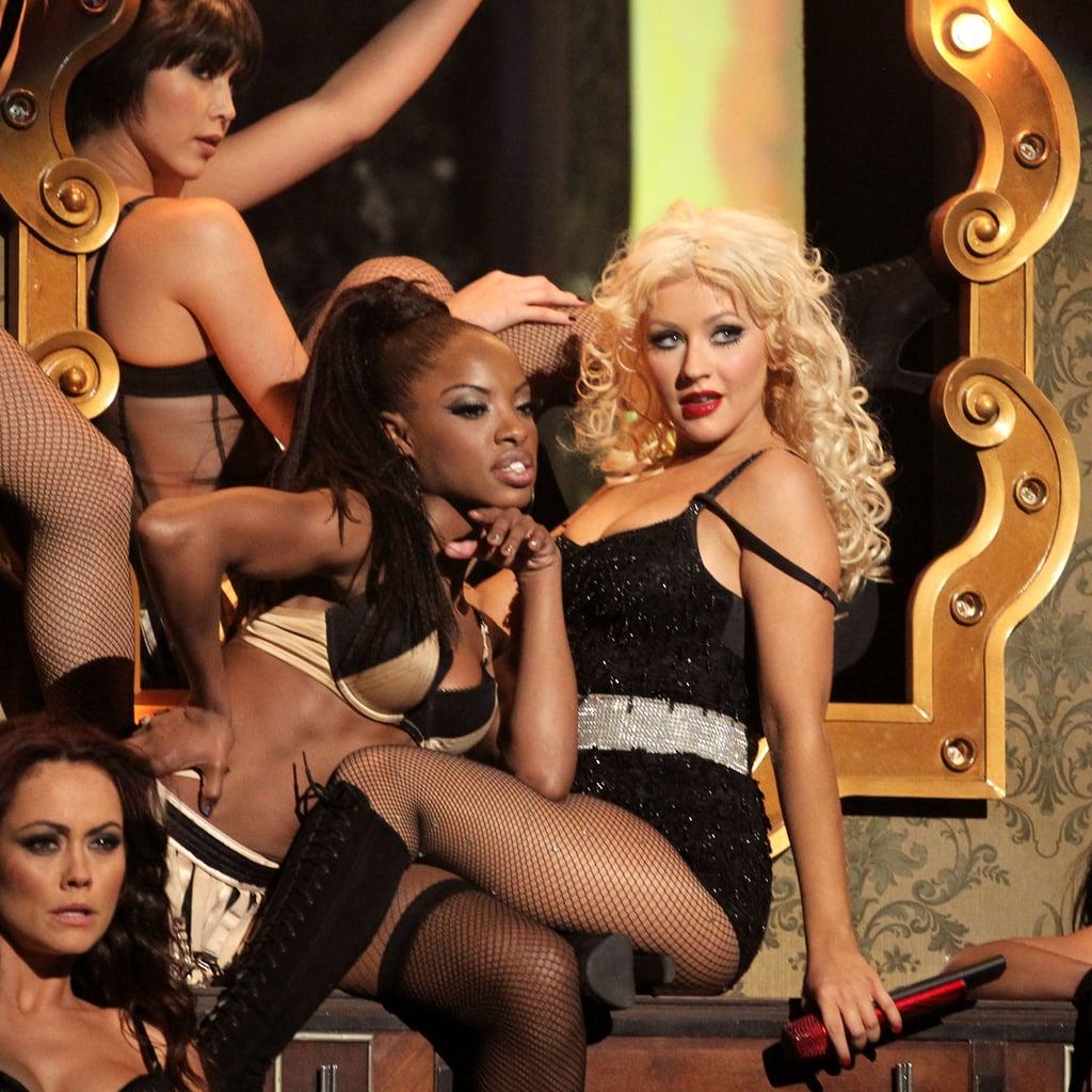 Christina Aguilera performed in 2010.