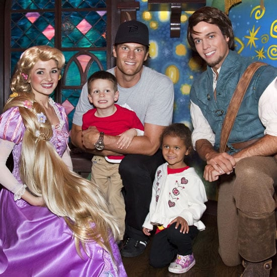 Pictures of Tom Brady With Jack at Disneyland