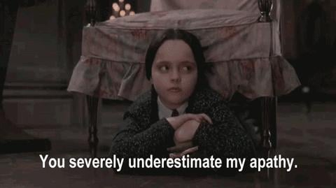 She Also Played Wednesday, the Queen of #Unimpressed, in The Addams Family