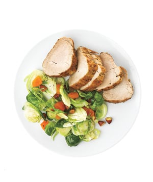 Fast and Easy Recipe For Pork Tenderloin With Brussels Sprouts