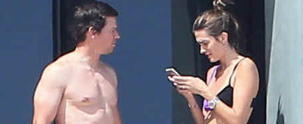 Shirtless Mark Wahlberg Packs On the PDA With His Hot Wife