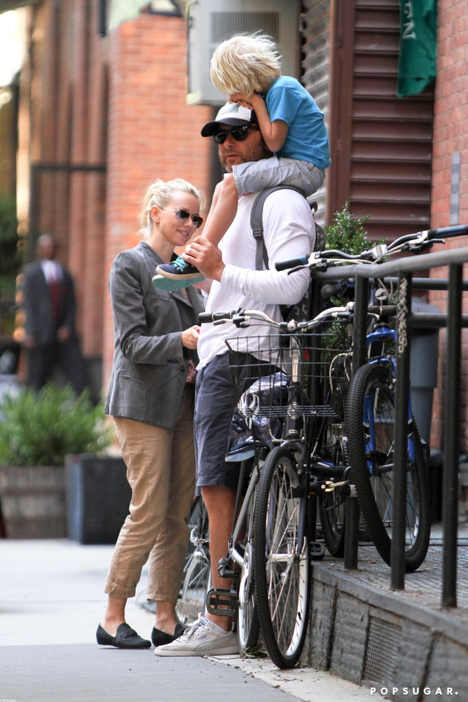 Liev Schreiber and Naomi Watts spent a day with their boys in NYC.