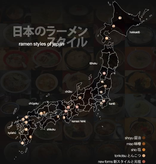 Yummy Link: Map of Japan's Ramen Styles