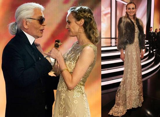 Diane Kruger Wins Best International Actress for Inglorious Basterds at the 2010 Goldene Kamera Awards 2010-02-01 17:30:23