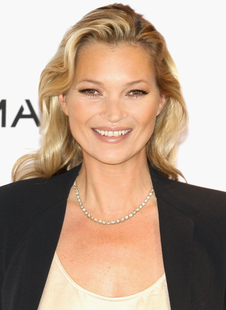 Kate Moss posed for photographs at the Mango store on Oxford Street.