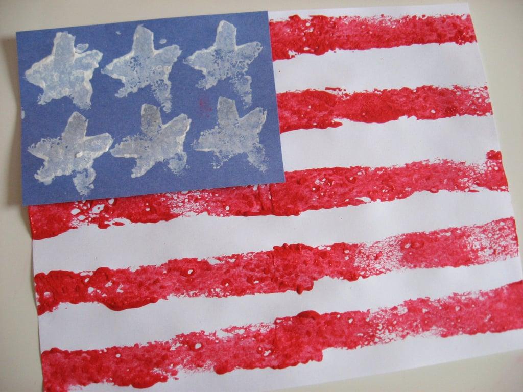 Stars and Stripes Sponge Print Flag