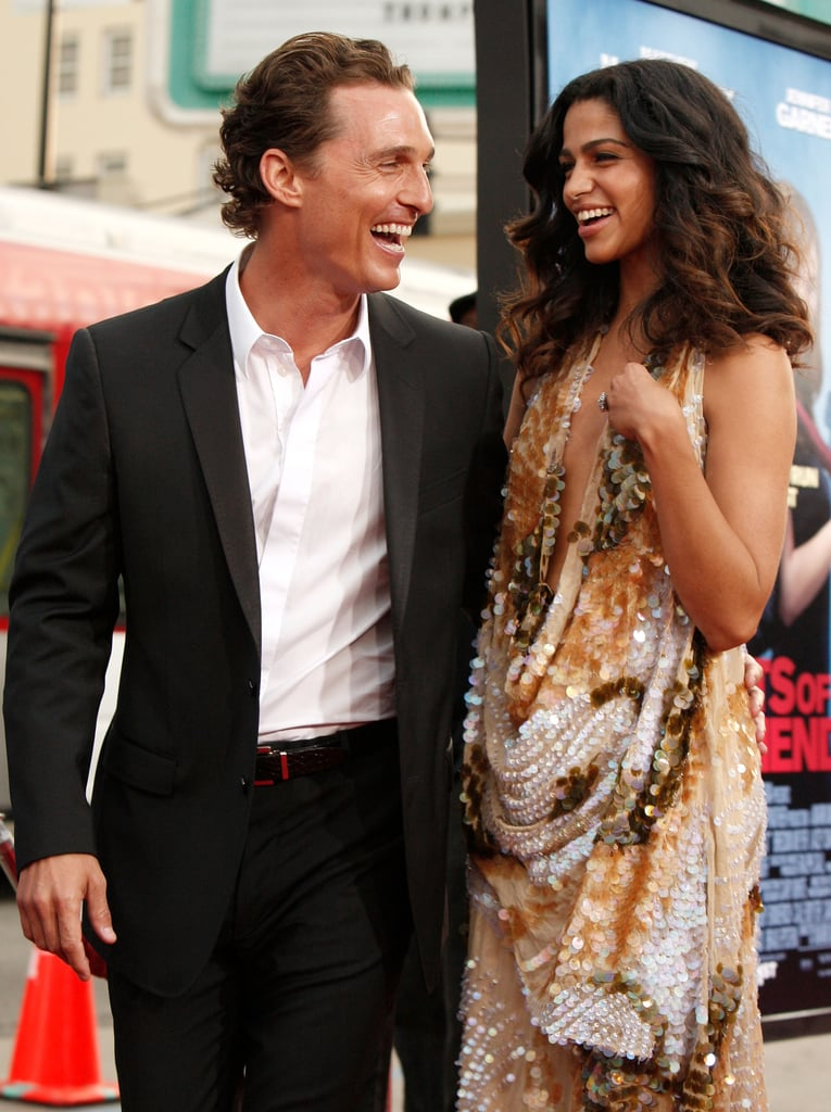 Matthew McConaughey and Camila Alves attended the LA premiere of Ghosts Of Girlfriends Past in April 2009.