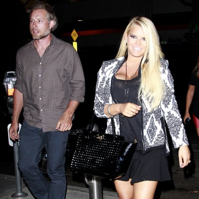 Jessica Simpson Shows Skin With Eric Johnson