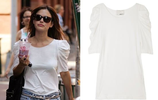 Rachel Bilson wearing Phillip Lim's Ruched Sleeve Top