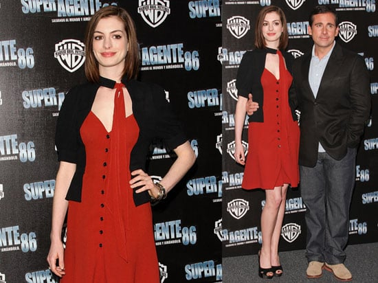 Images of Anne Hathaway and Steve Carell at Get Smart Premiere in Mexico