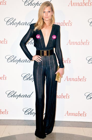 Toni Garrn Goes Braless, Flashes Thong in Sheer Jumpsuit: Pics!