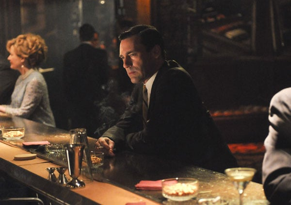 """The show: Mad Men  The date: Get close at a speakeasy   Has there ever been at episode that doesn't feature Don Draper at a dimly lit bar (with or without his latest mistress)? Cozy up with your love and a classic martini at a speakeasy or trendy hotel bar that screams """"sexy."""" Bottoms up!"""