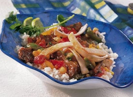 Fast & Easy Dinner: Beef Fajita Bowls