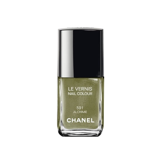If you love a little camo in your wardrobe, why not go for an army green with a scintillating sheen like Chanel Le Vernis in Alchimie ($27)?