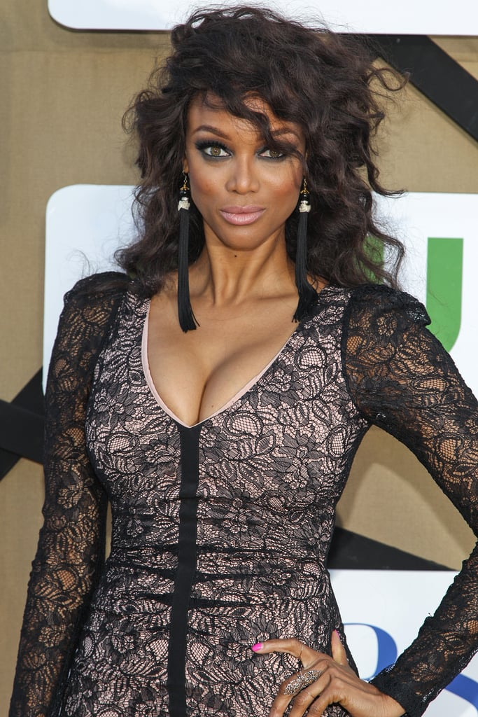 Tyra Banks attended the CW, CBS, and Showtime party.