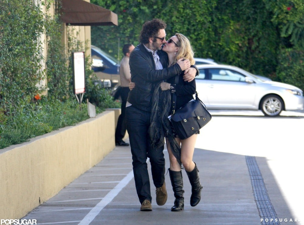 Michael Sheen and Rachel McAdams shared a kiss during a stroll through Beverly Hills in February 2012.