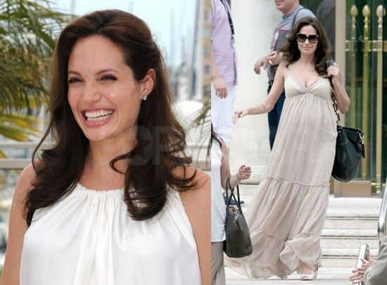 Angelina Jolie at Cannes Pregnant With Twins Due August 19 ...