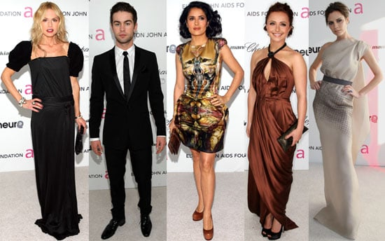 Photos of Victoria Beckham, Rachel Zoe, Salma Hayek, Heidi Klum, and More at Elton John's 2010 Oscars Party in LA