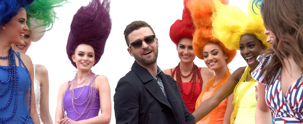 Justin Timberlake Gets Down With Lady Trolls on the Red Carpet in Cannes
