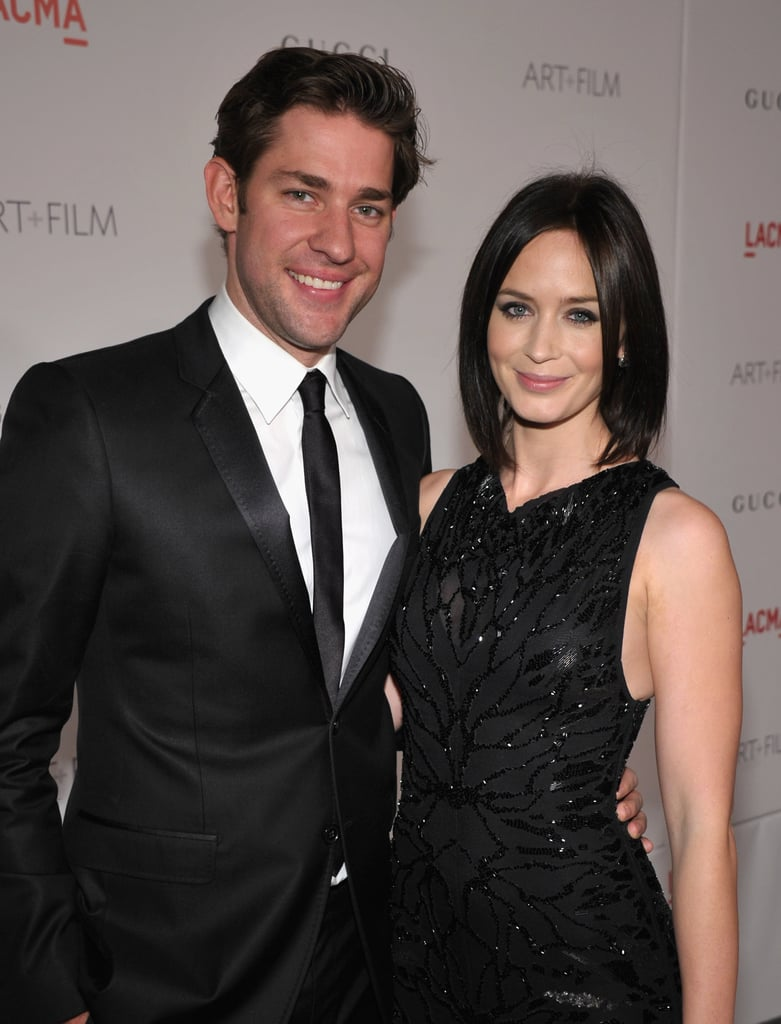 John and Emily matched in black at the LACMA Art + Film Gala honouring Clint Eastwood and John Baldessari in LA in Nov. 2011.