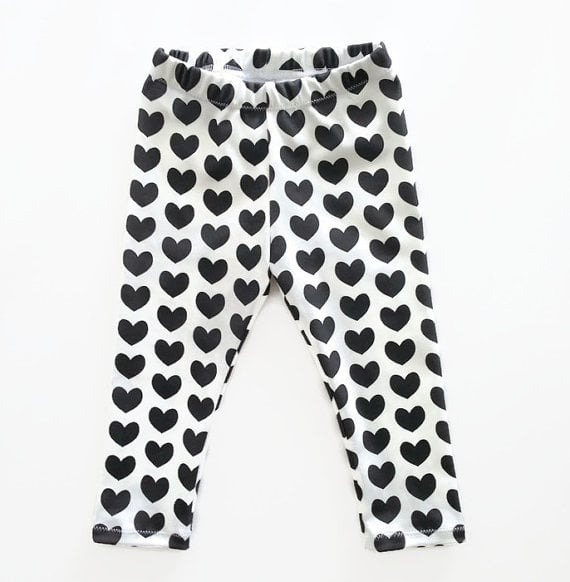 Black Heart Leggings