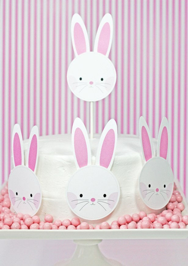 Bunny Cake and Cupcake Toppers