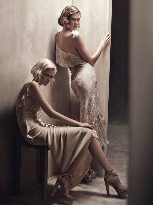 Abbey Lee Kershaw, Karlie Kloss for Donna Karan, by Patrick Demarchelier
