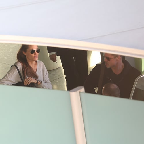 Angelina Jolie and Maddox at LAX | February 2014